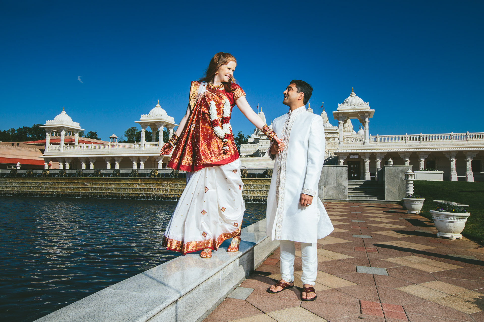 Hindu chinese fusion wedding