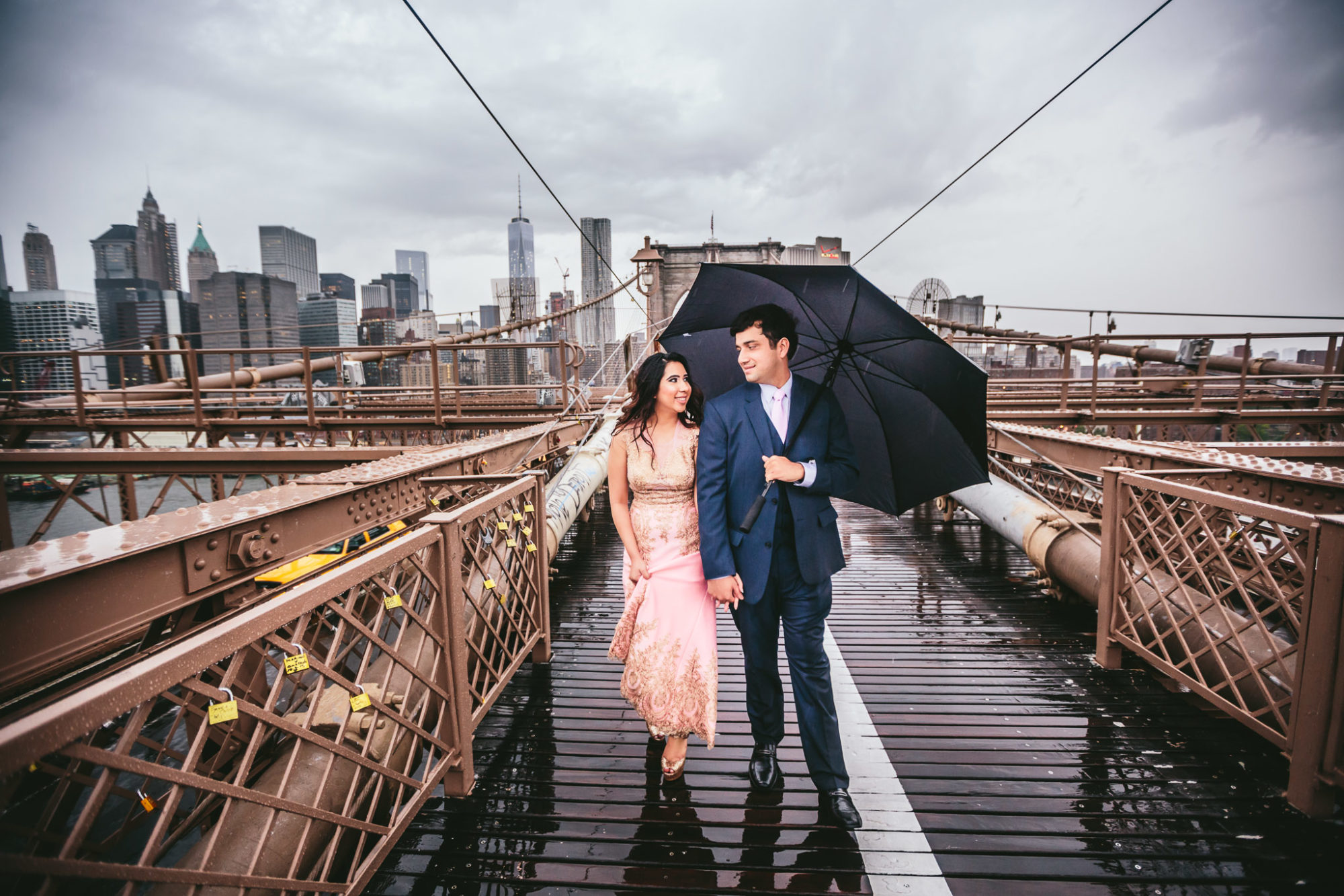 New York City Indian Engagement Session at Brooklyn Bridge