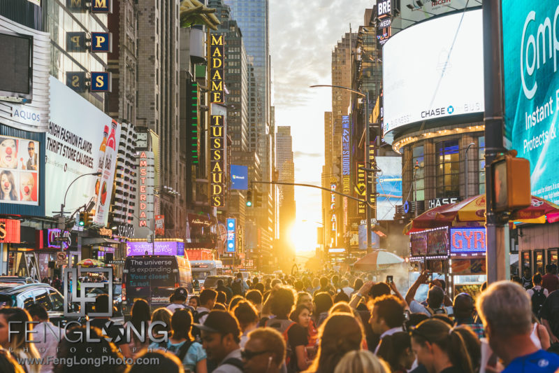 Manhattanhenge 2016 Times Square NYC