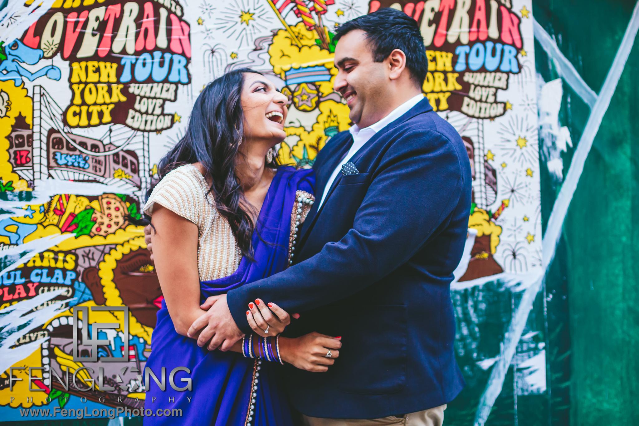SoHo New York City Indian Engagement Session