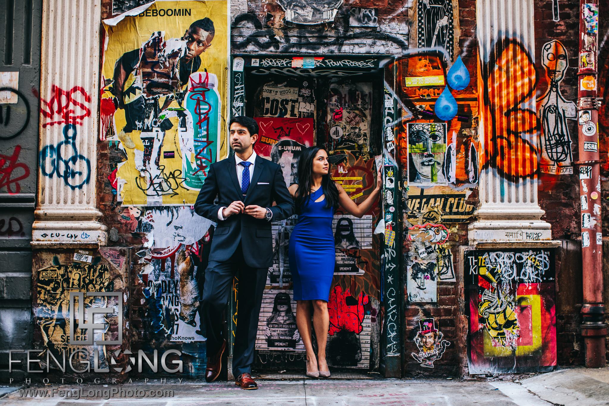 New York City Indian Wedding engagement session in SoHo