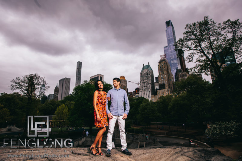 Indian Wedding Engagement Session in New York City Central Park