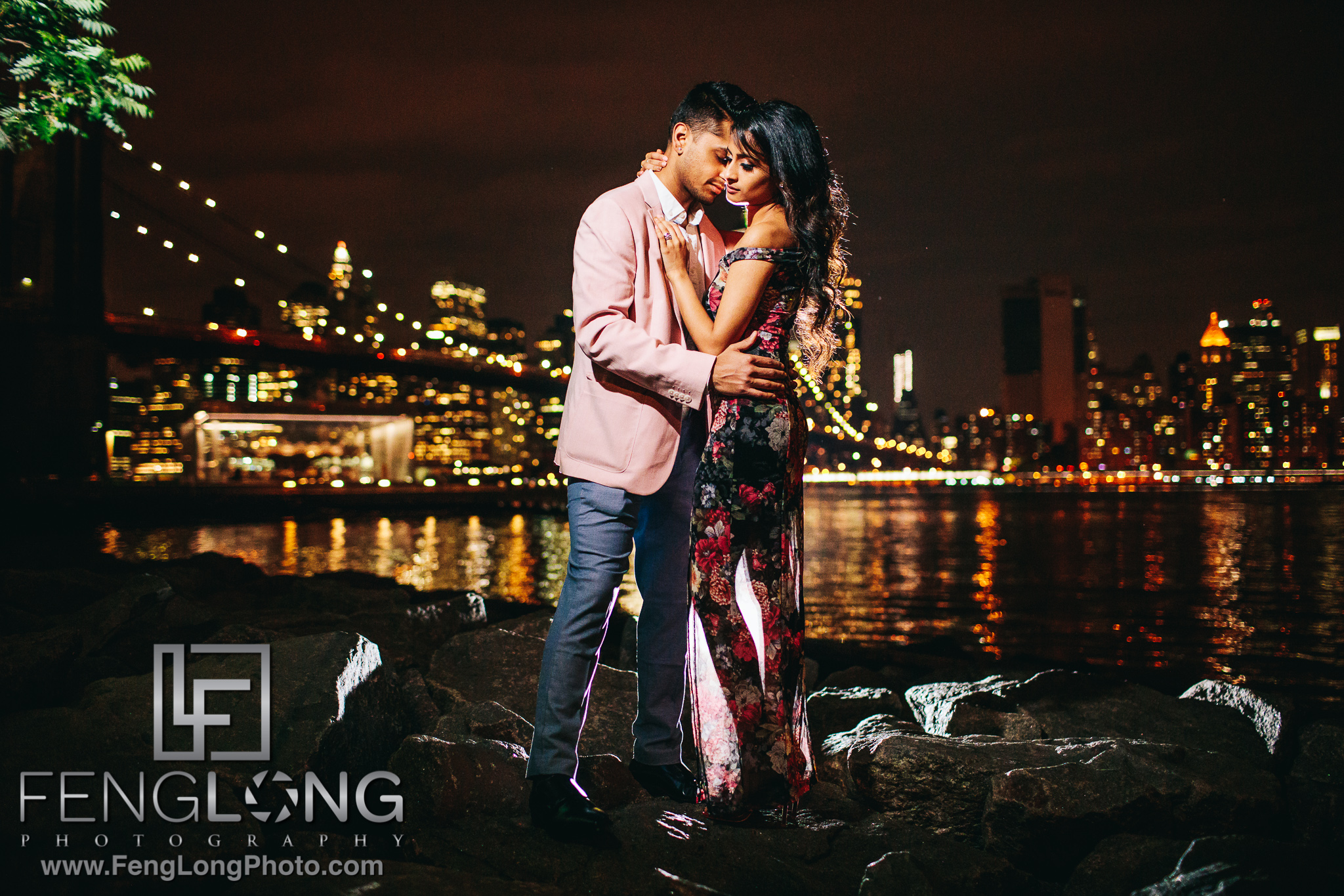 Indian Engagement Session in DUMBO Brooklyn