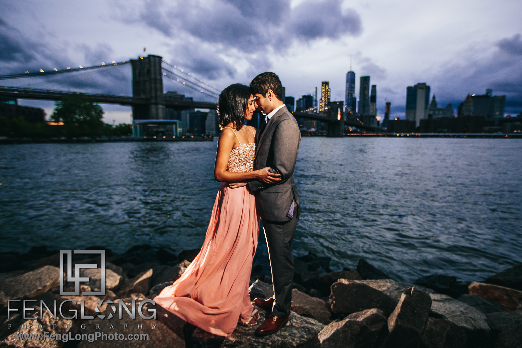 Indian Engagement Session in Brooklyn New York City