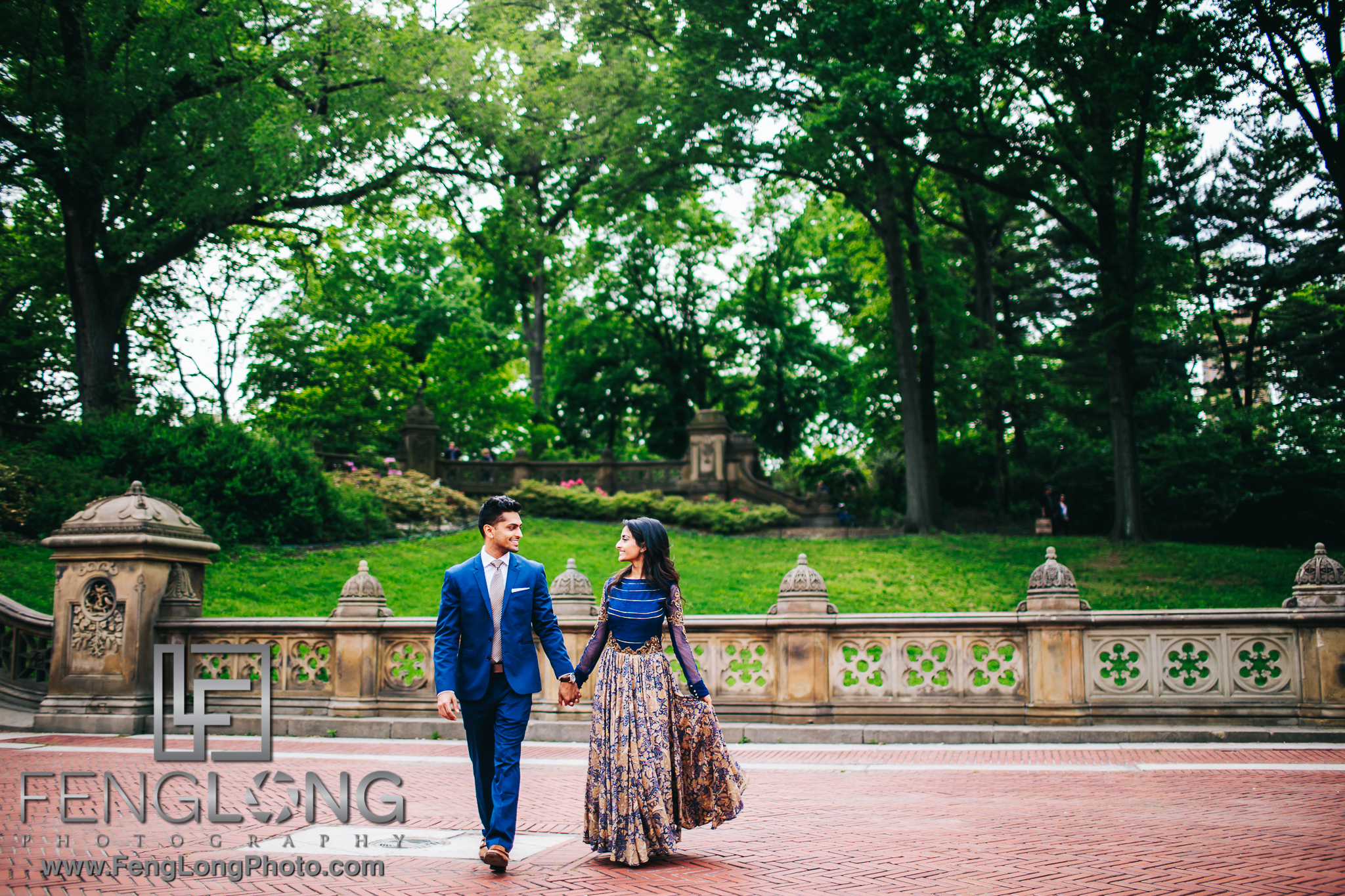 Indian Engagement Session in Central Park New York City
