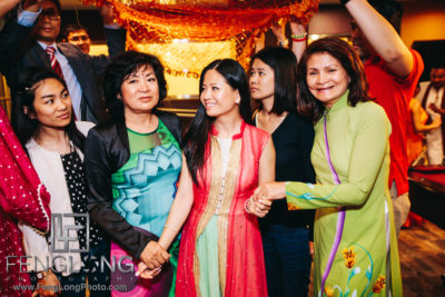 Fusion Vietnamese Indian Wedding in Washington, DC Pithi Night