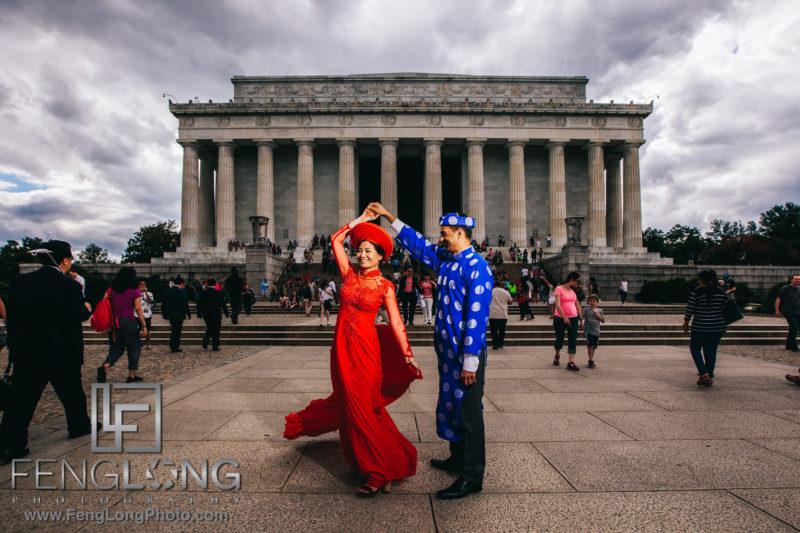 Fusion Vietnamese Indian Wedding in Washington, DC at the Lincoln Memorial