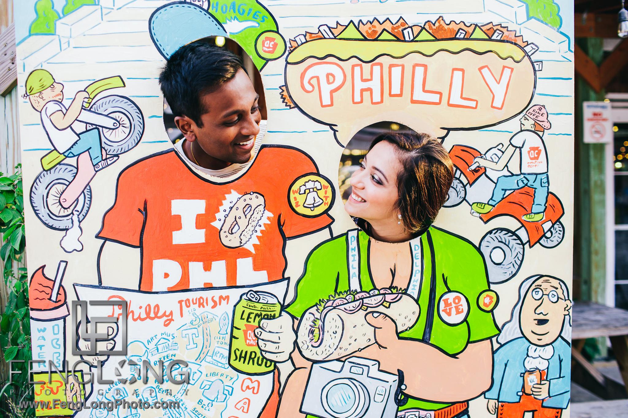 Philadelphia Indian Wedding Engagement Session