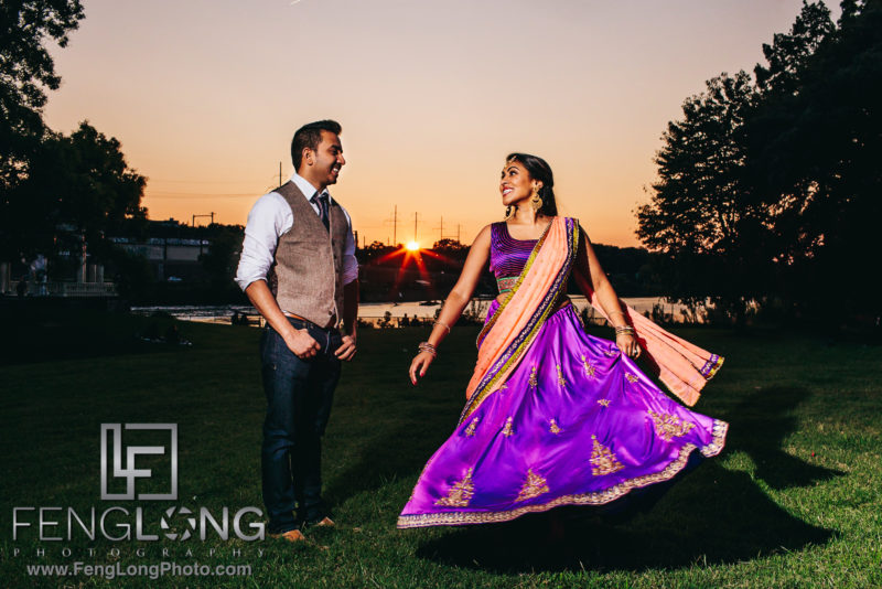 Philadelphia Indian Engagement Session at the River