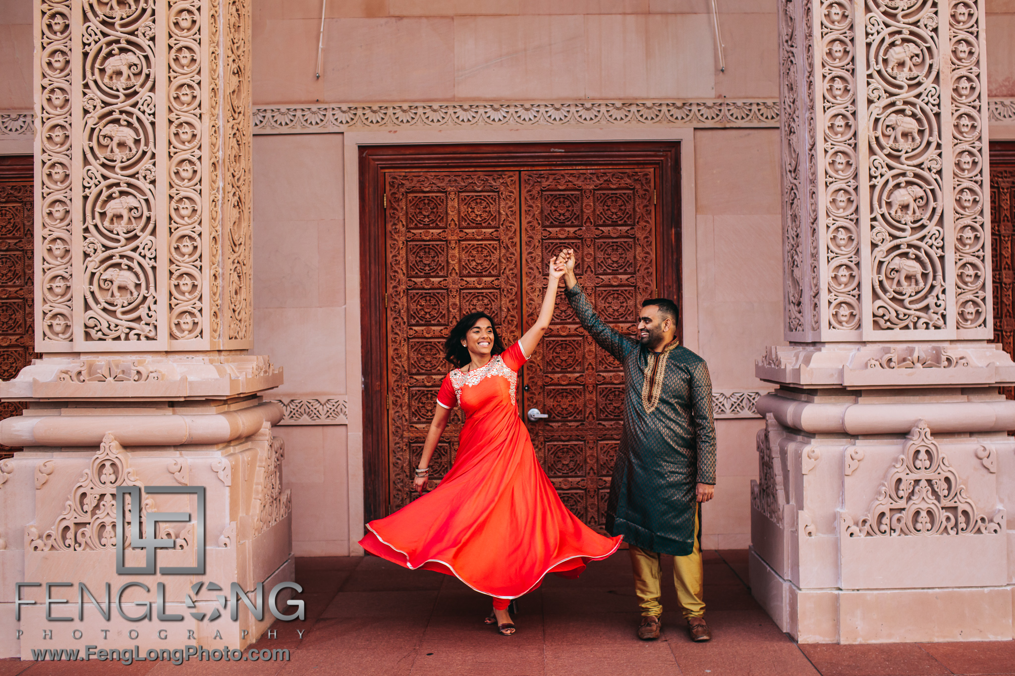 Radha Nilkanth Sunrise Engagement at BAPS Mandir Atlanta